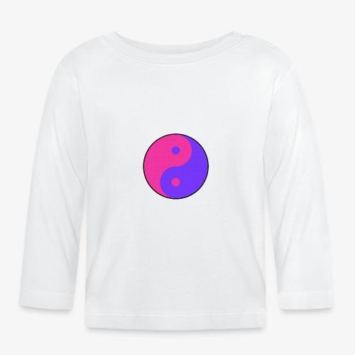 Yin Yang PinkBlue - Camiseta manga larga bebé