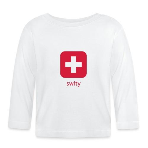 Schweizer Wappen Icon swity - Baby Langarmshirt