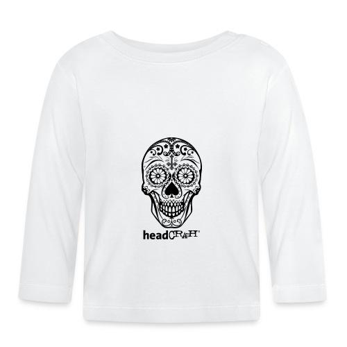 Skull & Logo black - Baby Langarmshirt