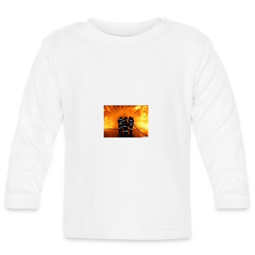 pompier vs flammes - T-shirt manches longues Bébé