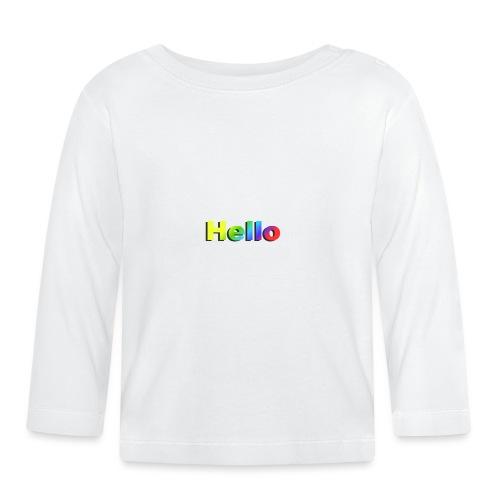 Hello - Koszulka niemowlęca z długim rękawem
