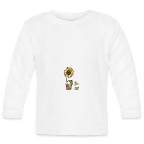 My earth is your earth - Baby Langarmshirt