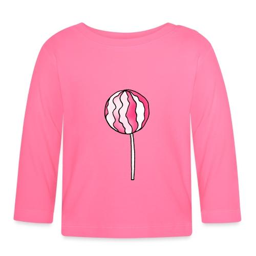 Lollipop Erdbeer-Sahne - Baby Langarmshirt