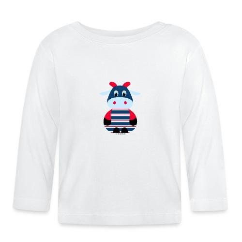 Kuh blau-rot - Baby Langarmshirt