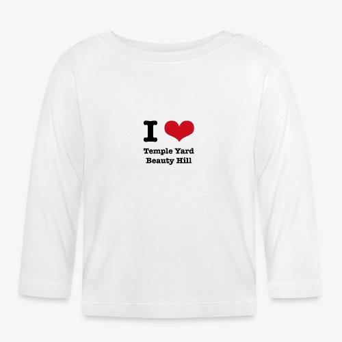 I love Temple Yard Beauty Hill - Baby Langarmshirt