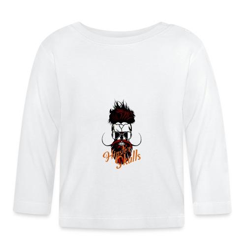 tete de mort hipster skull logo crane barbu barbe - T-shirt manches longues Bébé