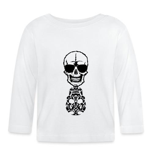 tete mort skull tribal reflet dead death - T-shirt manches longues Bébé