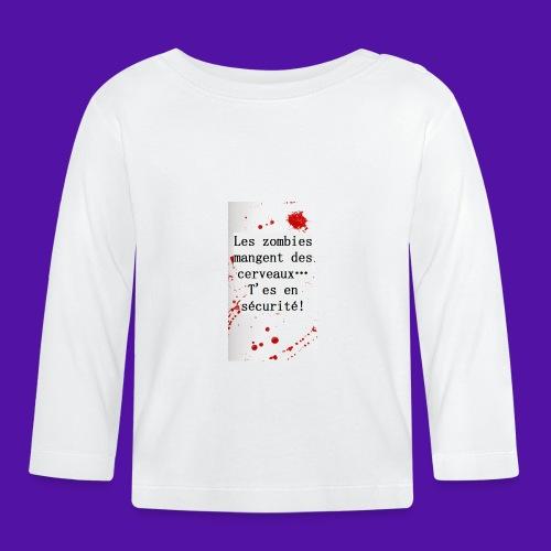 Les zombies mangent des cerveaux... - T-shirt manches longues Bébé