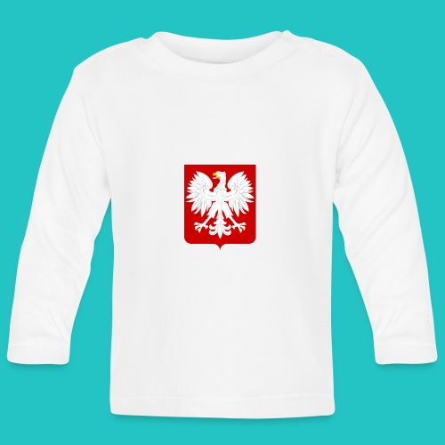 Koszulka z godłem Polski - Koszulka niemowlęca z długim rękawem