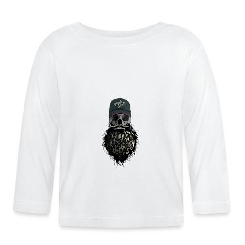 tete de mort hipster casquette logo skull barbu cr - T-shirt manches longues Bébé