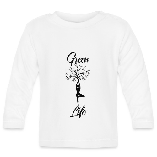 Greenlife Yoga Leben Nachhaltig Klimawandel - Baby Langarmshirt