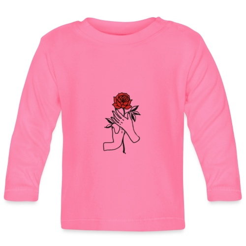 Fiore rosso - Maglietta a manica lunga per bambini