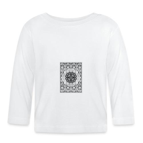 Sacred Geometry Black Framed Flower - Baby Long Sleeve T-Shirt