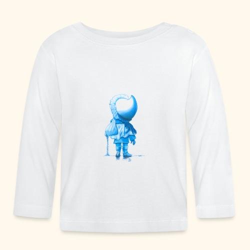 Unser Sandmännchen von hinten blau - Baby Langarmshirt
