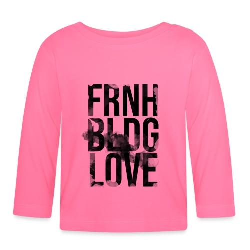 Französische Bulldogge Liebe wasserfarben - Baby Langarmshirt