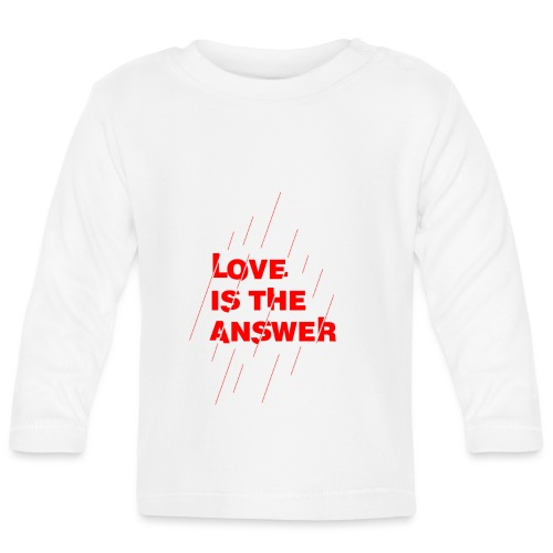 Love is the answer - Maglietta a manica lunga per bambini