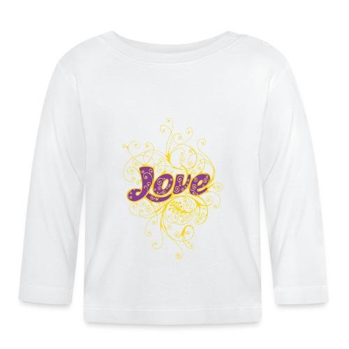 LOVE VIOLA CON DECORI - Maglietta a manica lunga per bambini