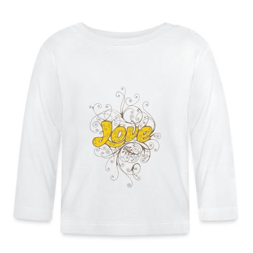 Scritta Love con decorazione - Maglietta a manica lunga per bambini