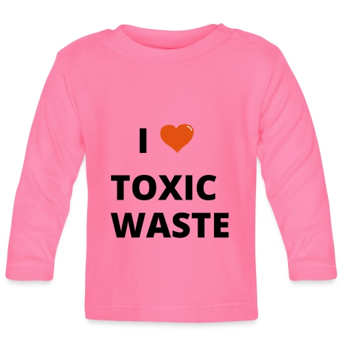 real genius i heart toxic waste - Baby Long Sleeve T-Shirt
