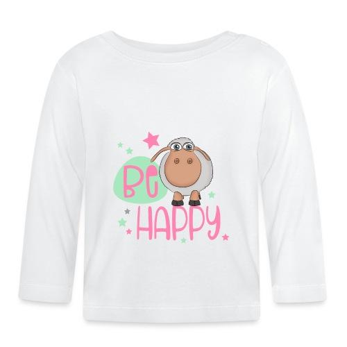 Be happy Schaf - Glückliches Schaf - Glücksschaf - Baby Langarmshirt