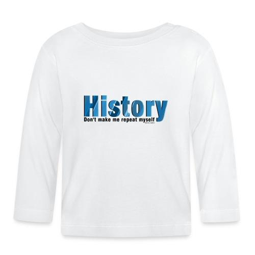 Blue Repeat History - Baby Long Sleeve T-Shirt