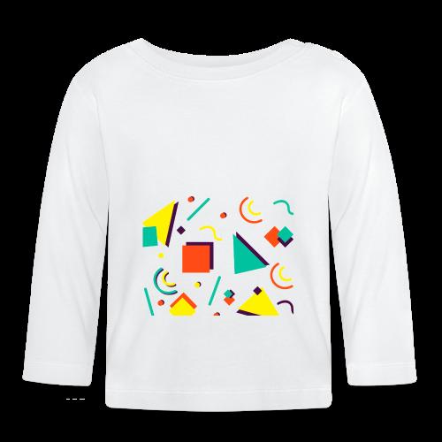 Retro Vintage Formen Abstrakt Bunt - Baby Long Sleeve T-Shirt