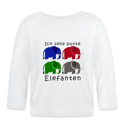 Vier Elefanten (Grafik) - Baby Langarmshirt