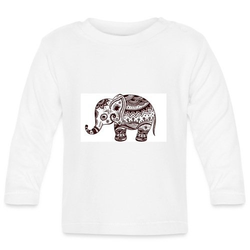 Your-Child Mandala Elefant - Langærmet babyshirt