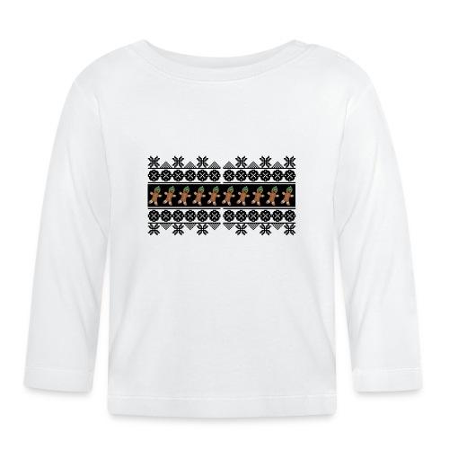 Lebkuchen Männchen für hässliche Weihnachten - Baby Langarmshirt