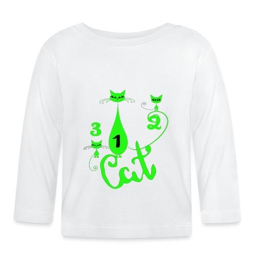 Un deux trois cat, French, funny, cute cat lovers - T-shirt manches longues Bébé
