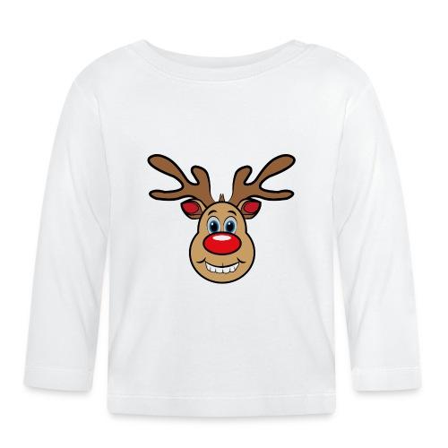 Ugly Christmas Weihnachten Xmas Rudi Reindeer - Baby Langarmshirt