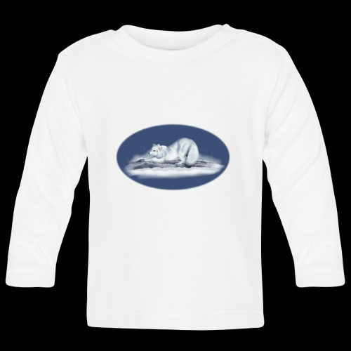 Arctic Fox on snow - Baby Long Sleeve T-Shirt