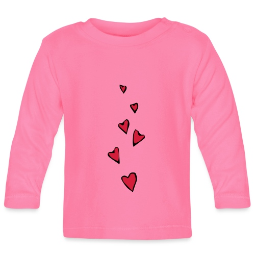 Cuori - Maglietta a manica lunga per bambini