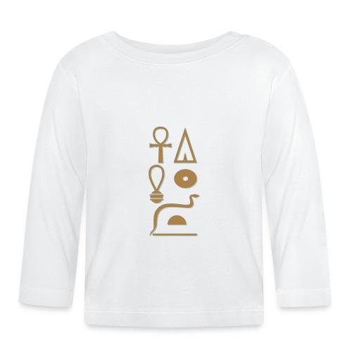 Hieroglyphen - Leben wie Re ewig - Baby Langarmshirt