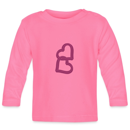 Due cuori uniti ca27 - Maglietta a manica lunga per bambini