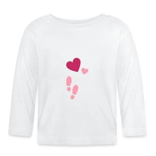 Heart & steps - Långärmad T-shirt baby