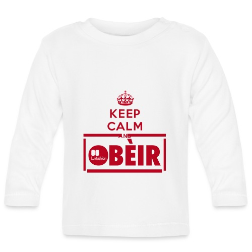 KEEP CALM AND - Langærmet babyshirt