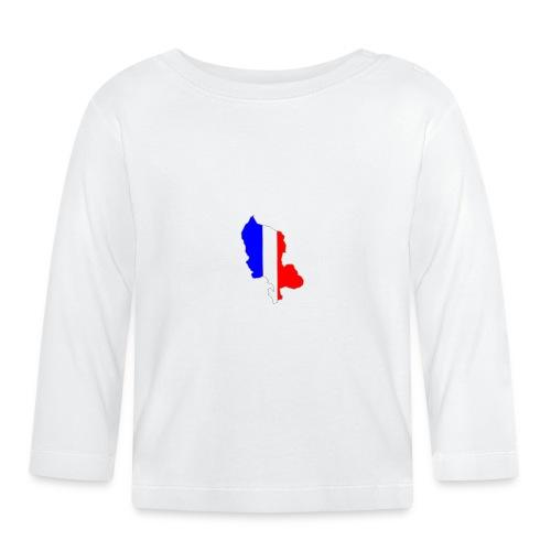Carte Territoire de Belfort bleu blanc rouge - T-shirt manches longues Bébé
