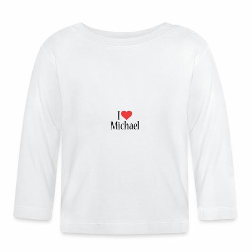 Michael designstyle i love Michael - Baby Long Sleeve T-Shirt