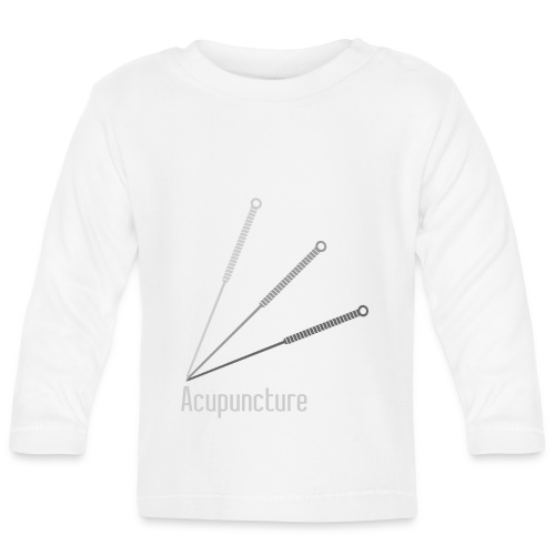 Acupuncture Eventail (logo blanc) - T-shirt manches longues Bébé