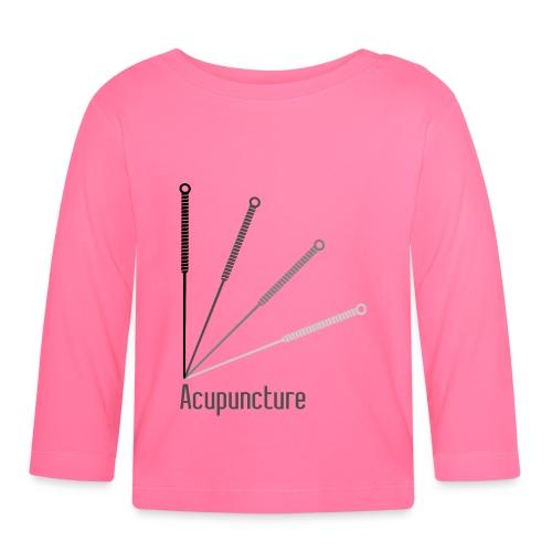 Acupuncture Eventail (logo noir) - T-shirt manches longues Bébé