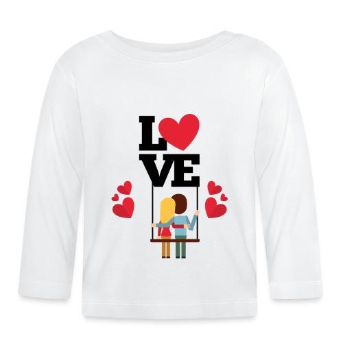 Love couple t-shirt - T-shirt manches longues Bébé