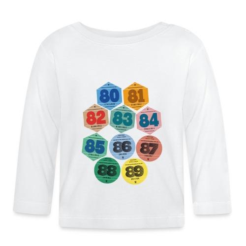 Vignettes automobiles années 80 - T-shirt manches longues Bébé