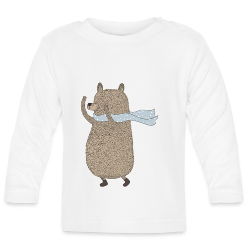 Fluffy Cuddle Bear by #OneCreativeArts - Baby Langarmshirt