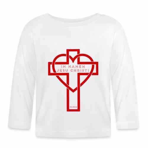 Im Namen JESU CHRISTI - rot - Baby Langarmshirt