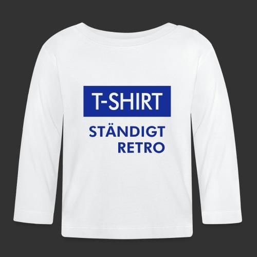 BLÅVITT T-SHIRT - Långärmad T-shirt baby