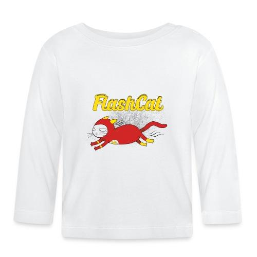 FlashCat Vintage Comic Katze Superheld - Baby Langarmshirt