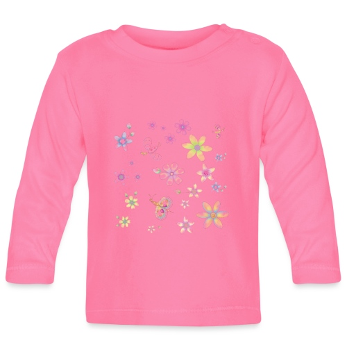 flowers and butterflies - Maglietta a manica lunga per bambini