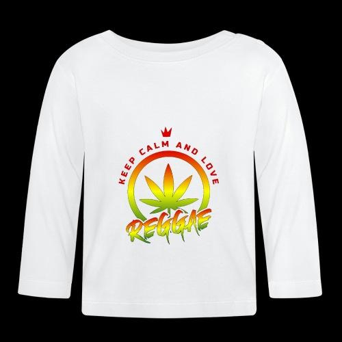 KEEP CALM LOVE REGGAE wht edge - Baby Long Sleeve T-Shirt