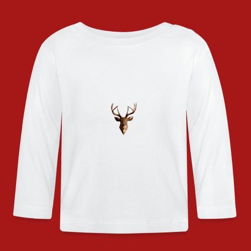 Deer-Head GOLD - Langærmet babyshirt